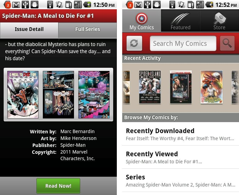 Marvel Comics-App