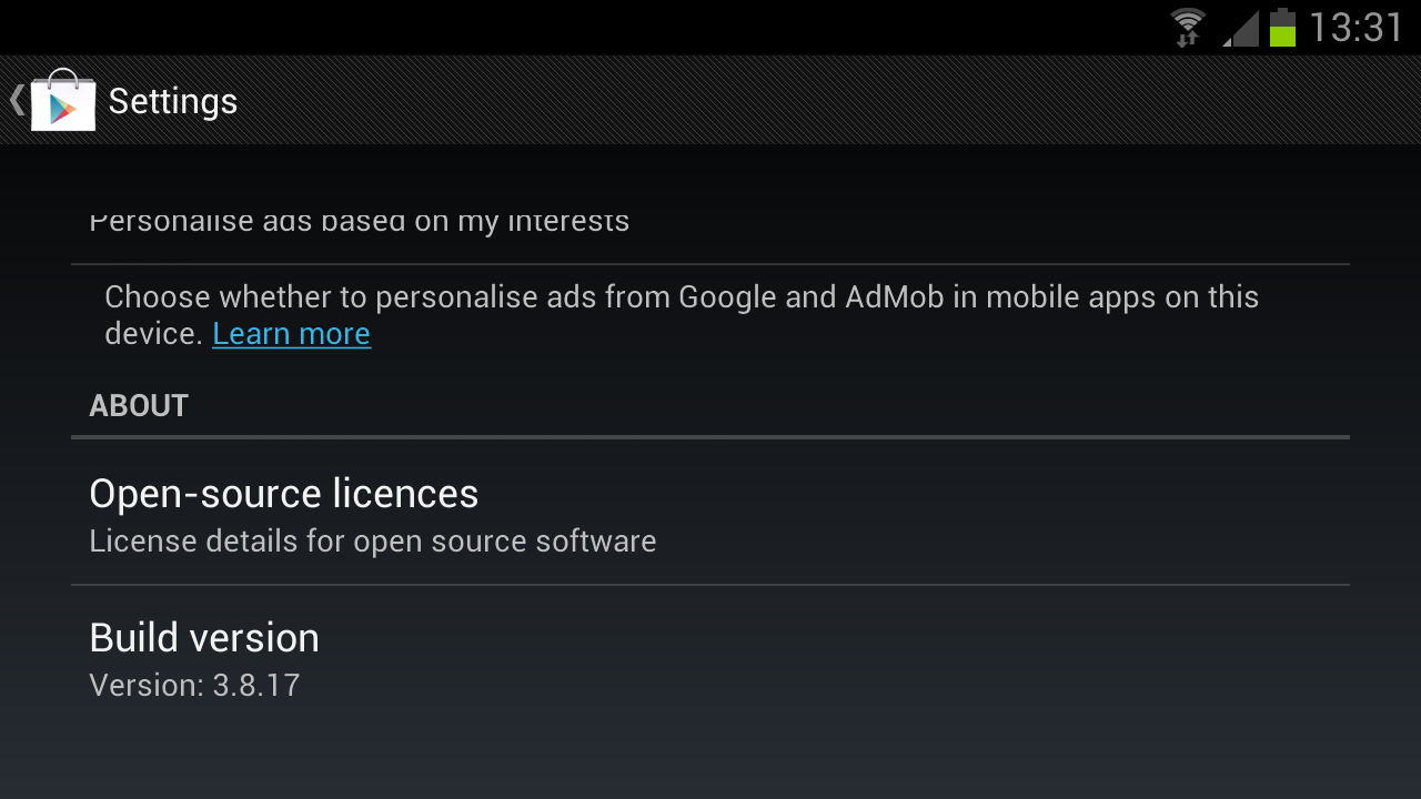 Google Play APK 3.8.17