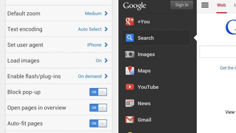 Google Homepage iPhone