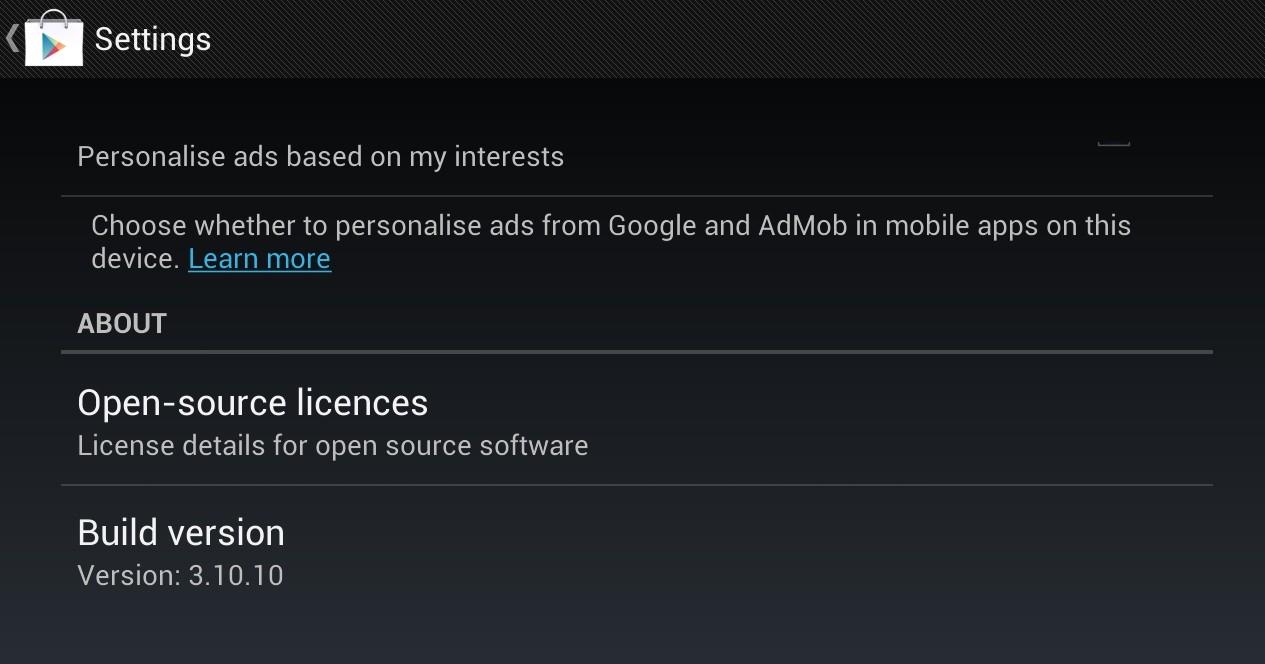 Google Play Store 3.10.10