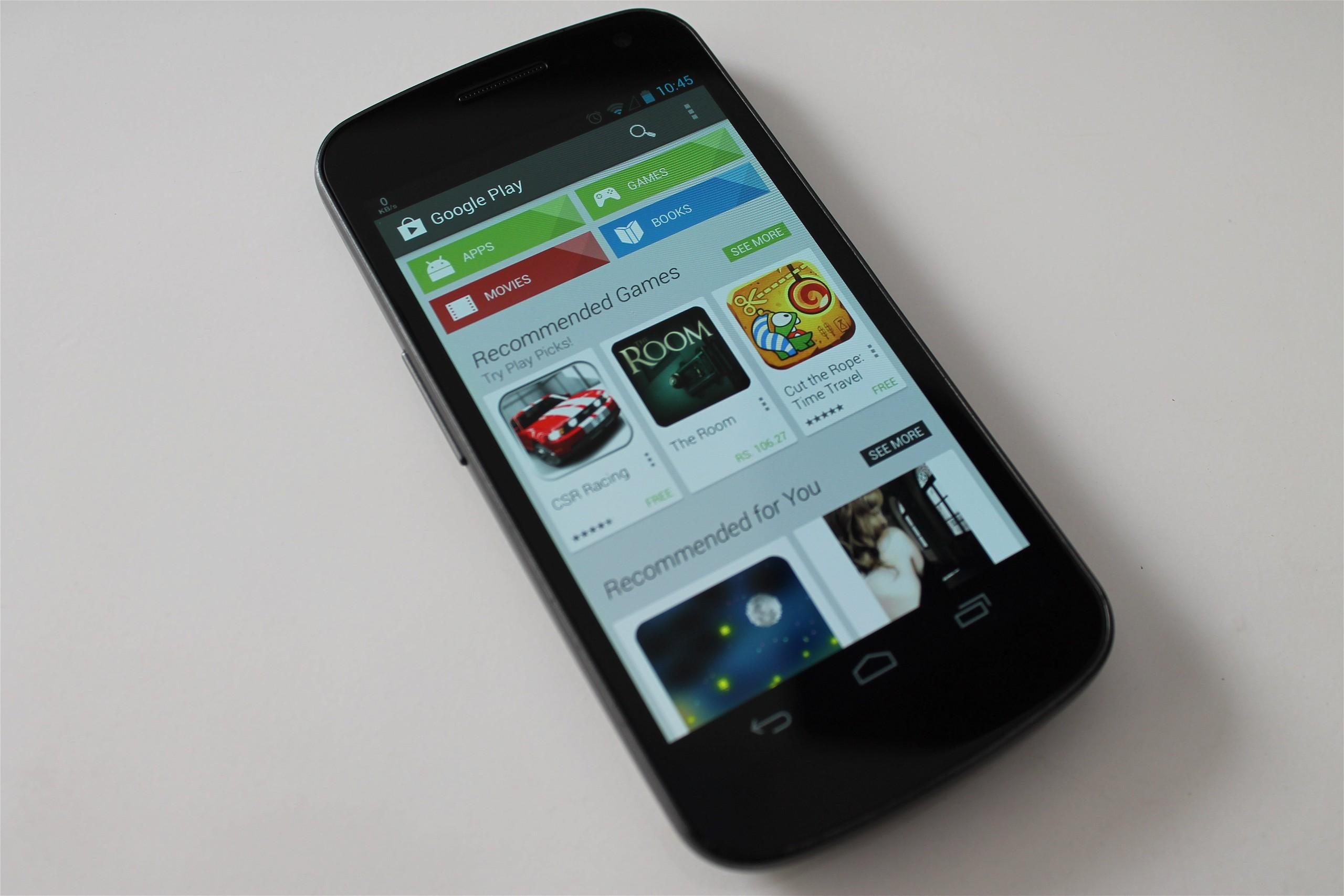 Google Play Store Galaxy Nexus