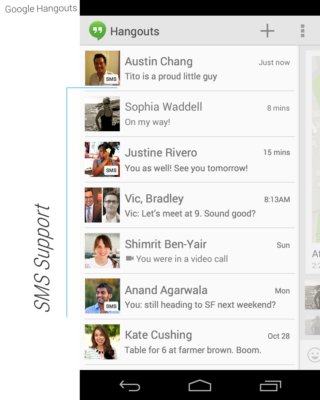 Hangouts 1.3 APK with SMS Support