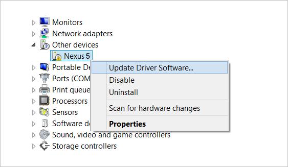 Nexus 5 Driver Installation Guide