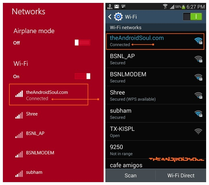 Wi-Fi Network Connection