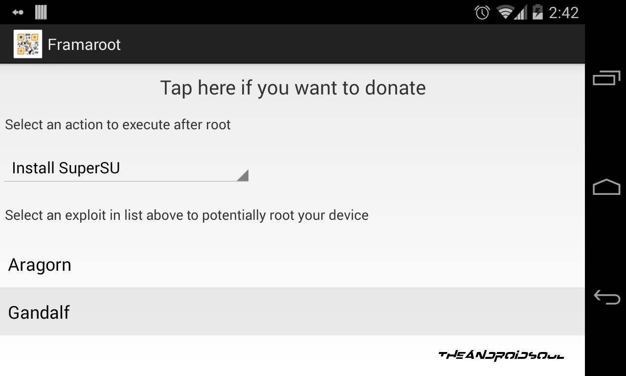 Root Nokia X using Framaroot app screenshot