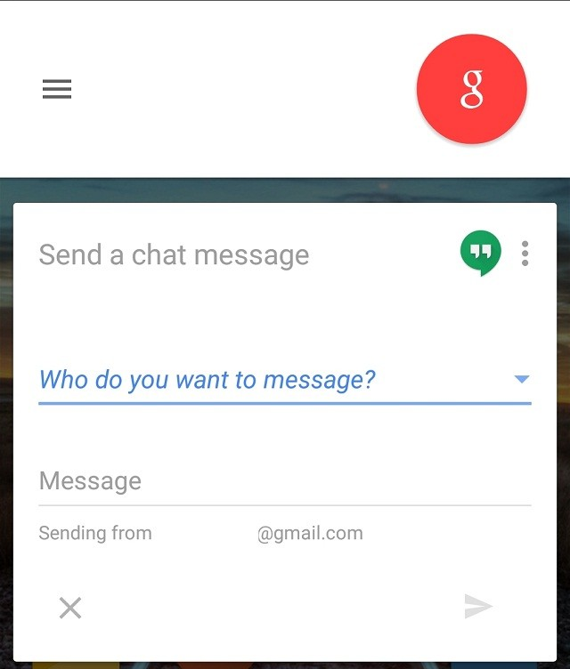 send a hangouts message