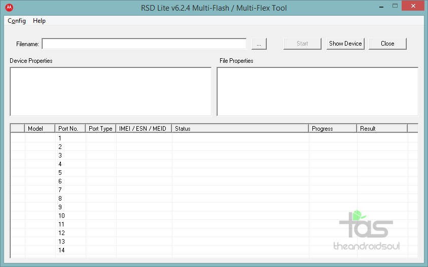 RSDLite Firmware Flash Tool