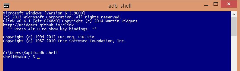 adb shell access