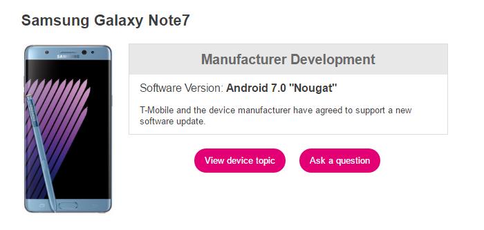 Note 7 Nougat