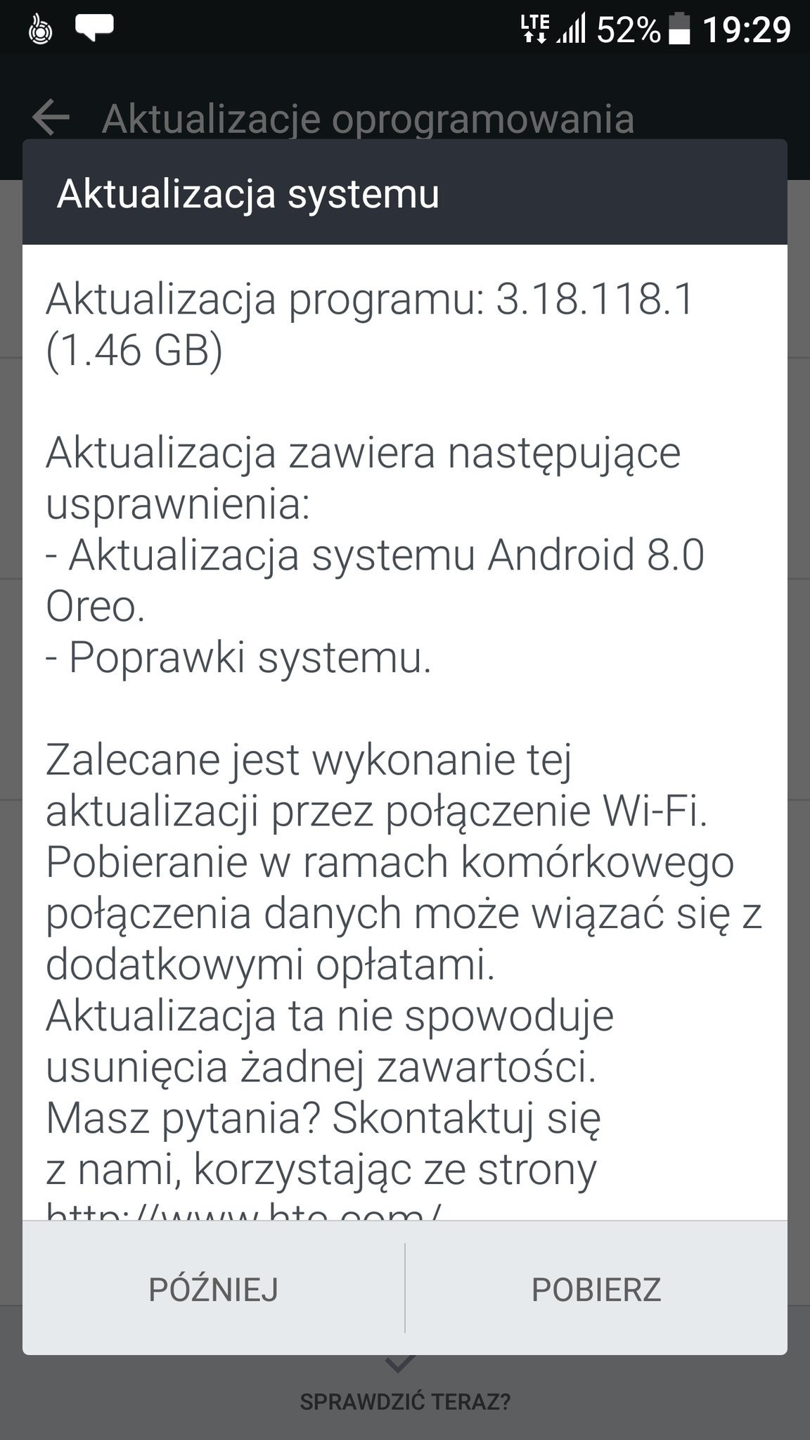 htc 10 Oreo rollout