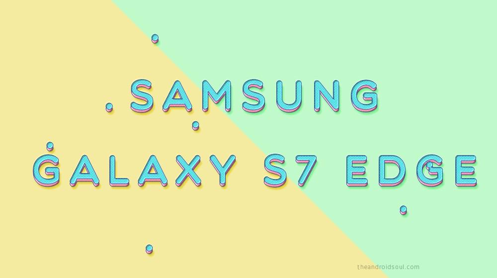 galaxy s7 edge update