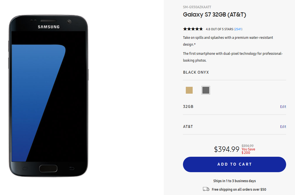 Galaxy S7 AT&T deal