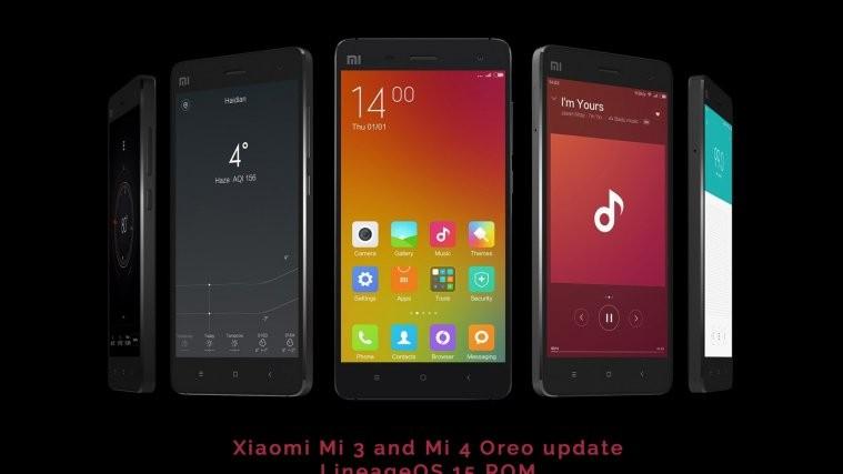mi 3 mi 4 Oreo update LineageOS 15