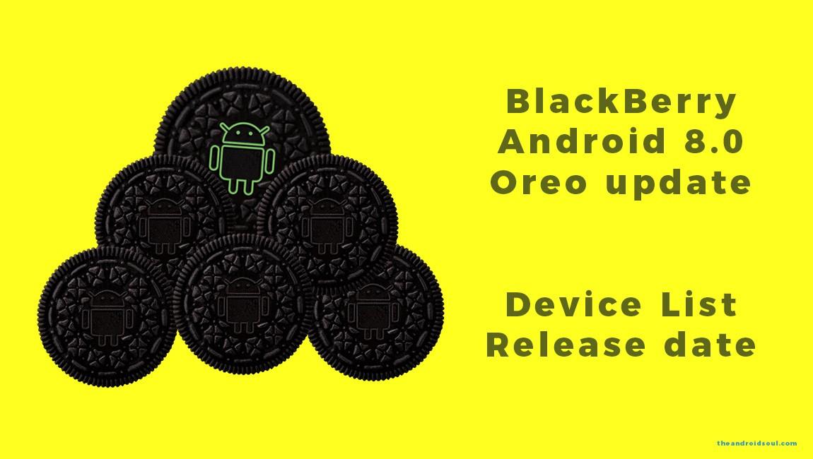 BlackBerry Oreo update