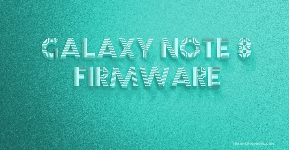 Galaxy Note 8 firmware