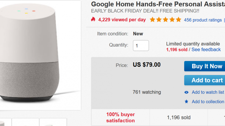 google home black friday deal