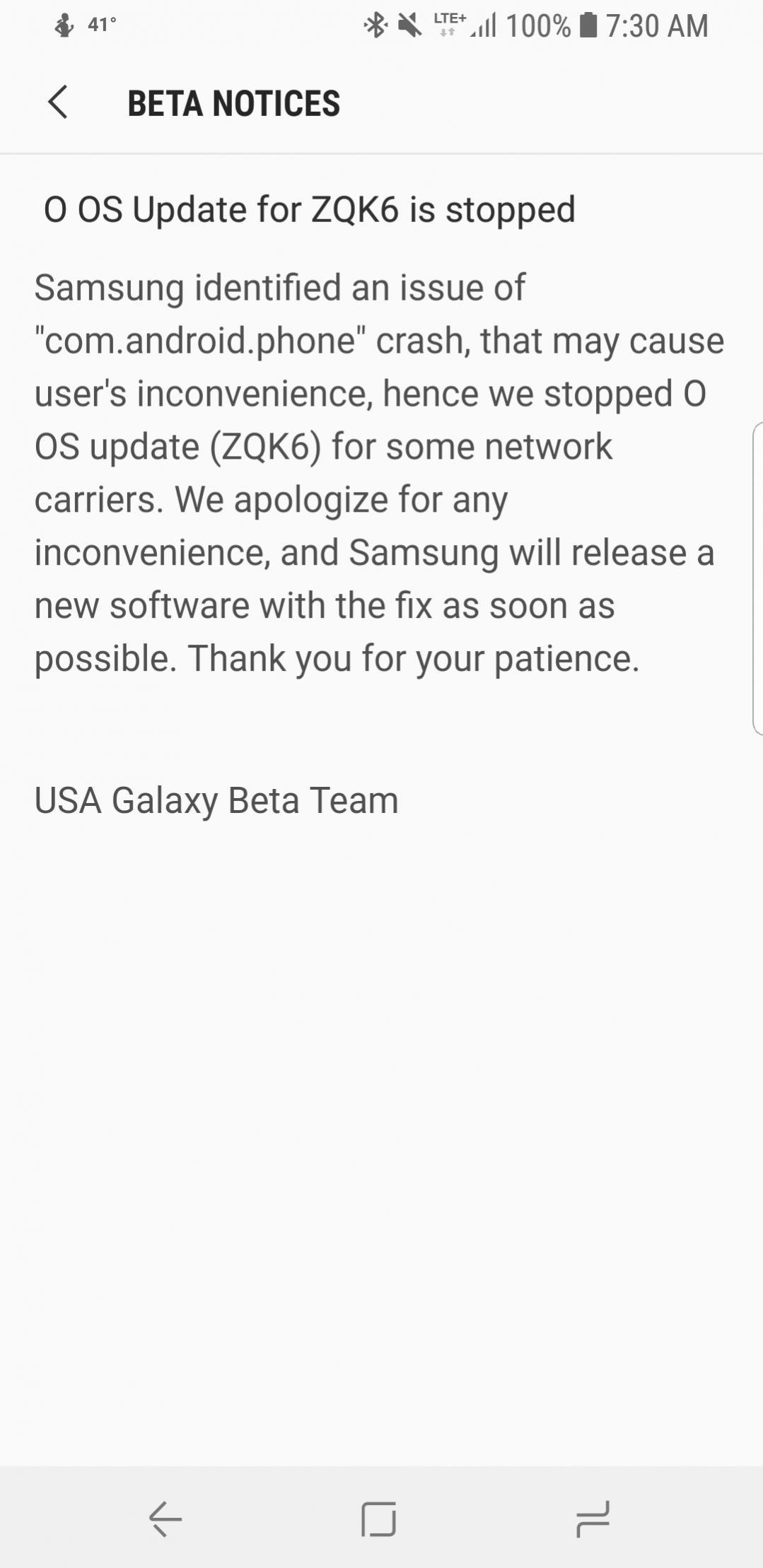 second Galaxy S8 Oreo beta halted