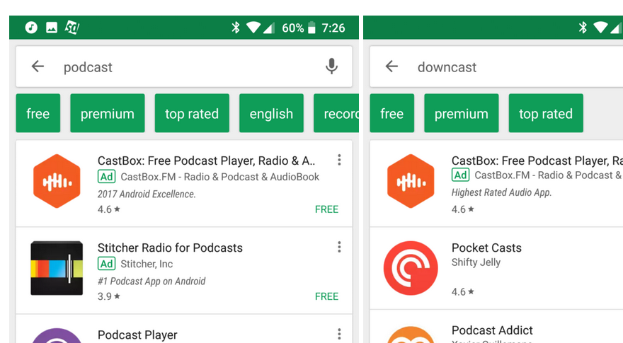play store search