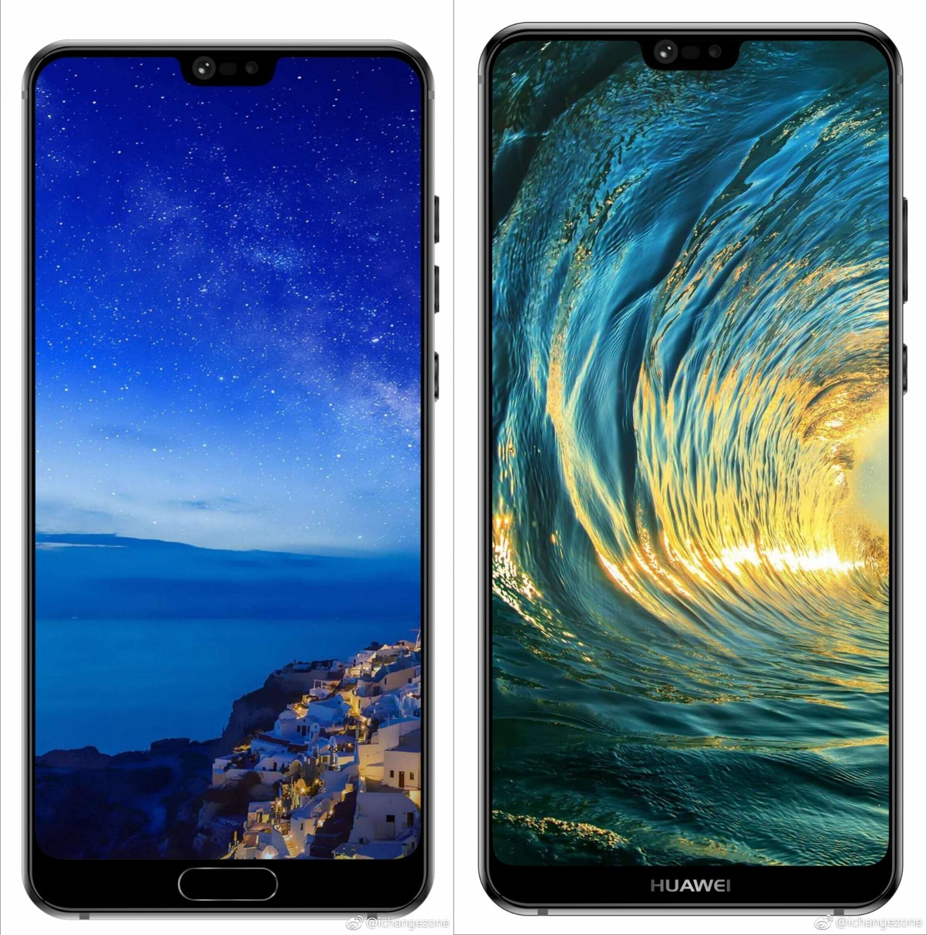 Huawei P20 and P20 Plus leak