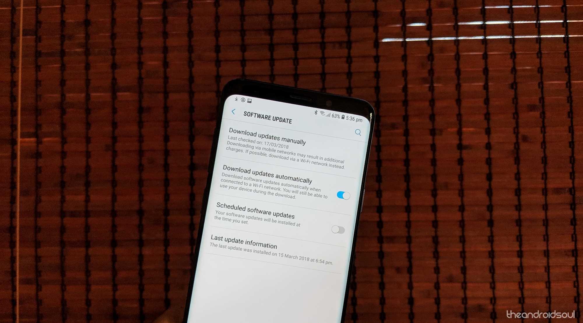 Galaxy Note 8 Oreo OTA force grab