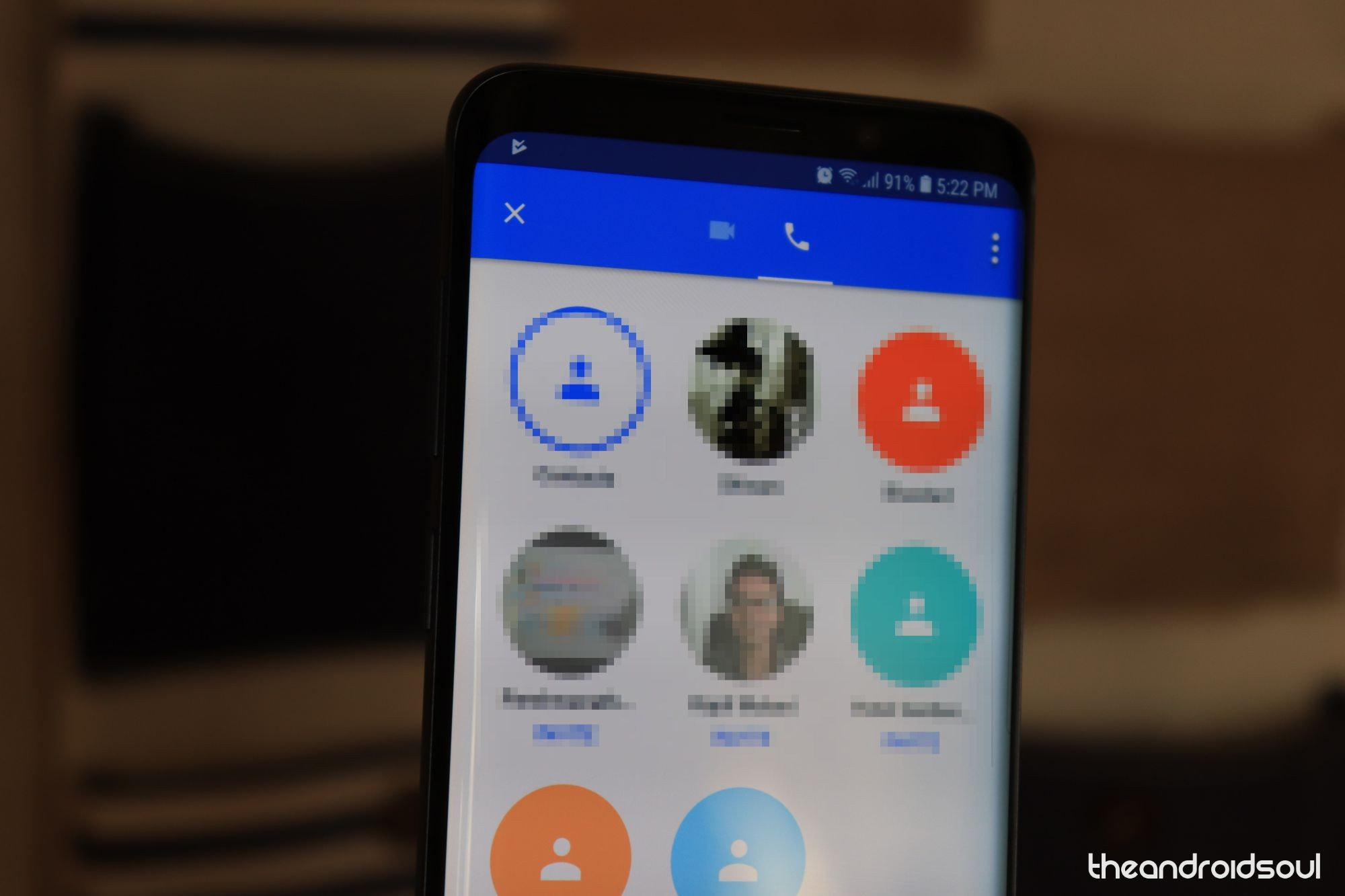 Google Duo Contacts List