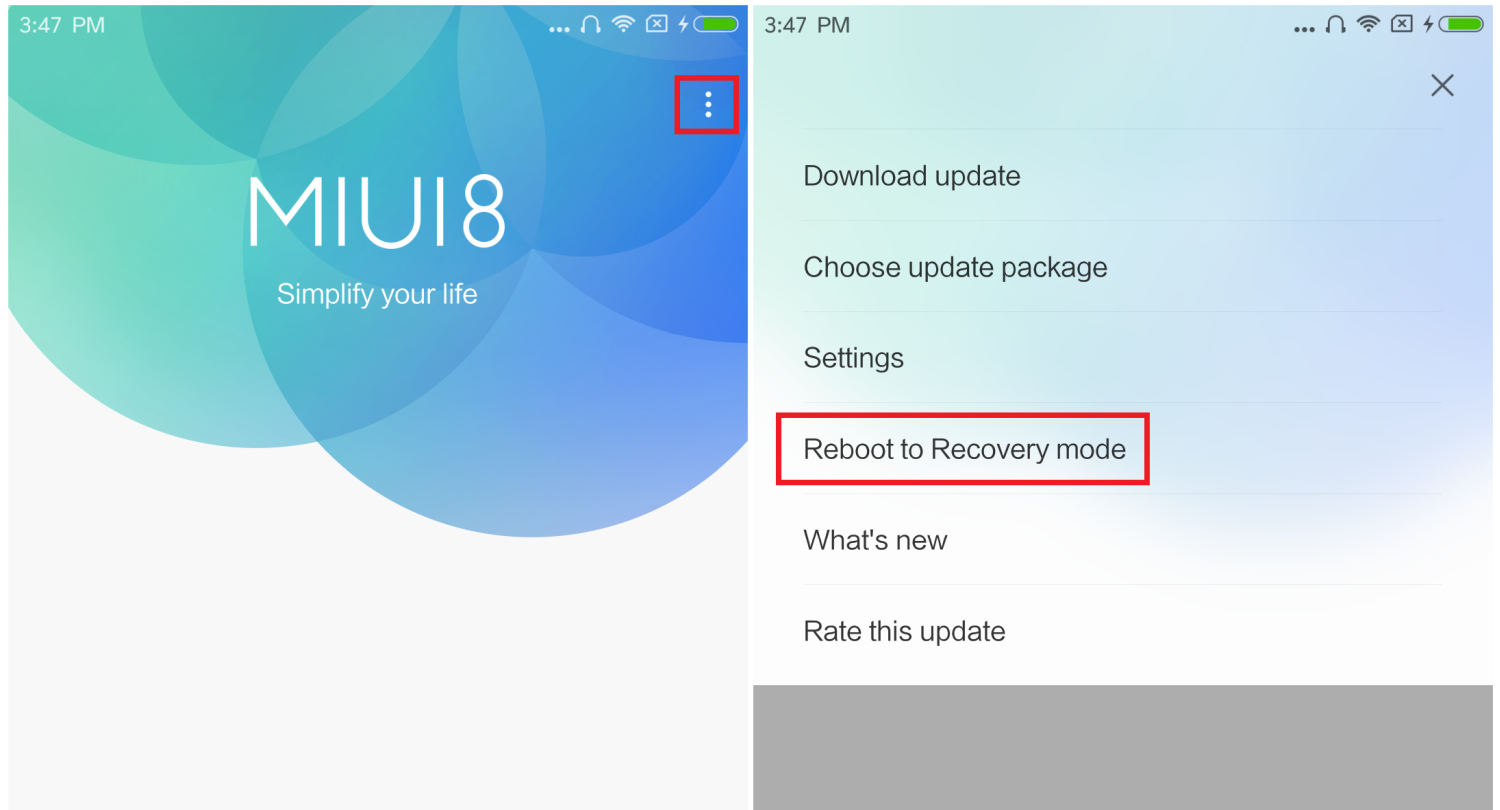 Redmi Note 5 Pro boot recovery mode