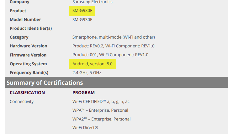Android Oreo certified