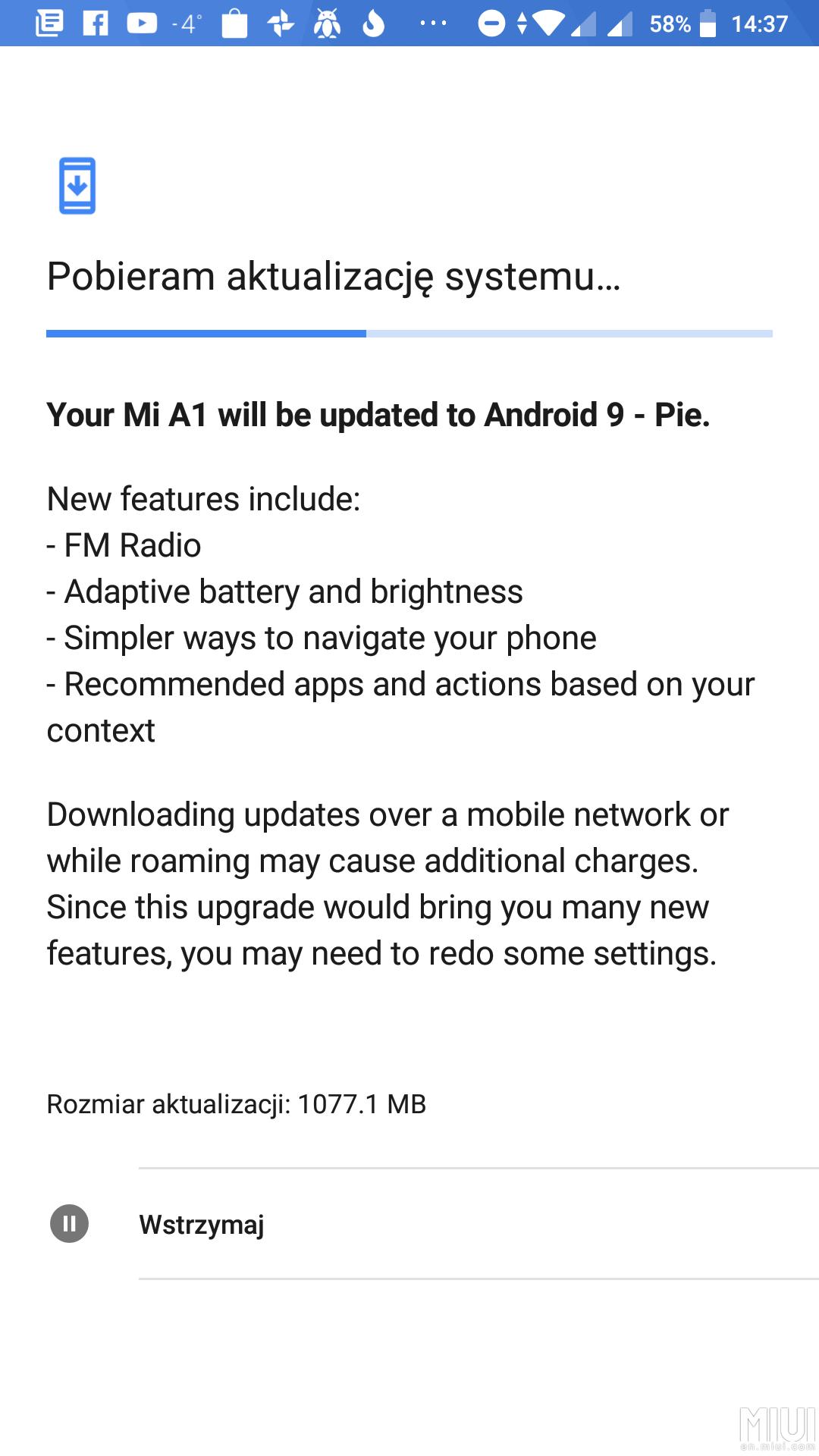 Mi A1 Pie update 2