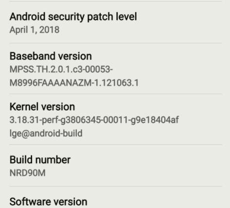 verizon v20 software update