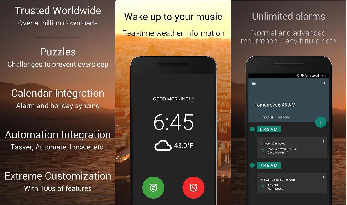 Os melhores aplicativos de alarme para Android que são realmente eficazes!