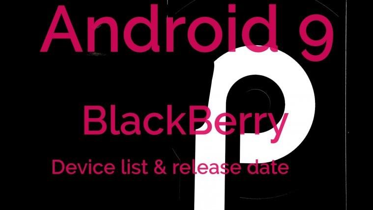 BlackBerry Android 9 Pie