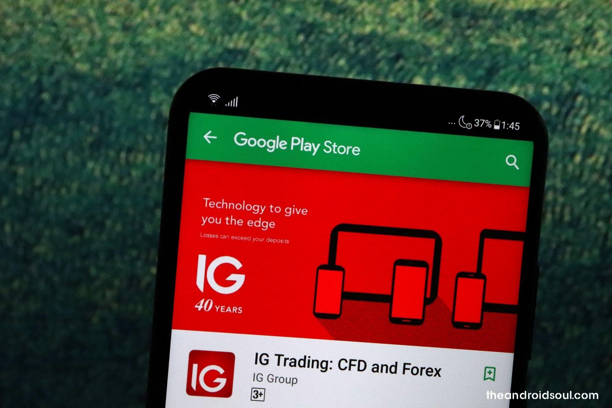 IG Trading app