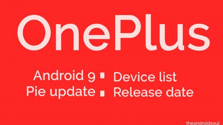OnePlus Android 9 Pie update