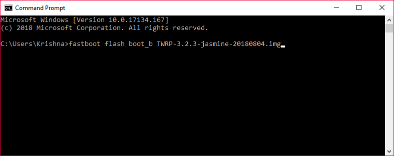 fastboot twrp flash