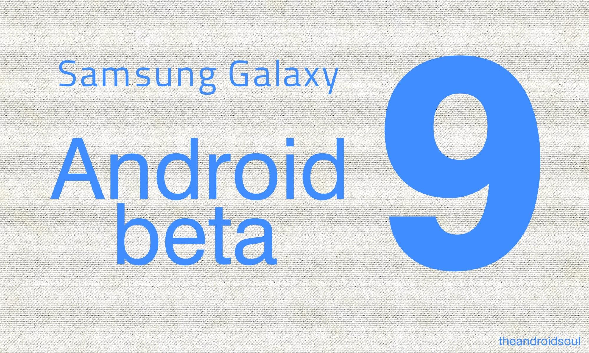 samsung Android 9 beta