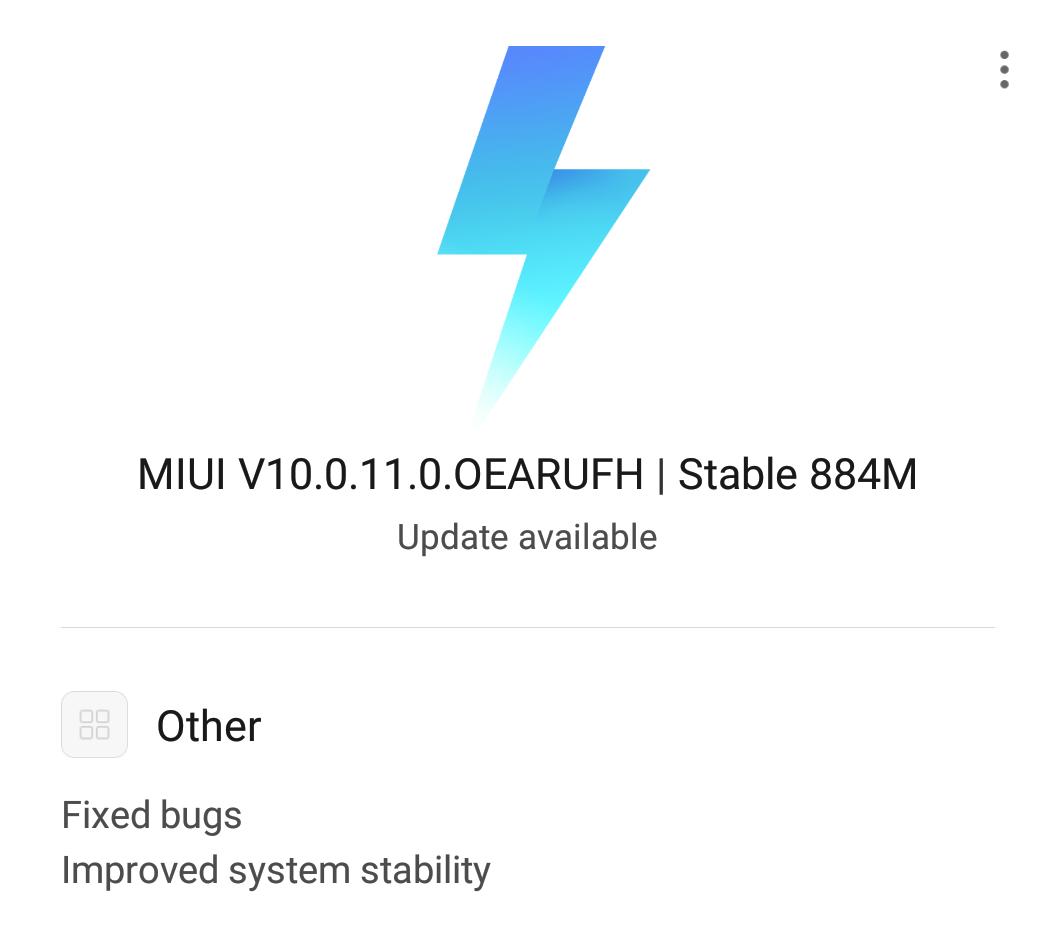 Mi 8 MIUI 10 update OTA Russia