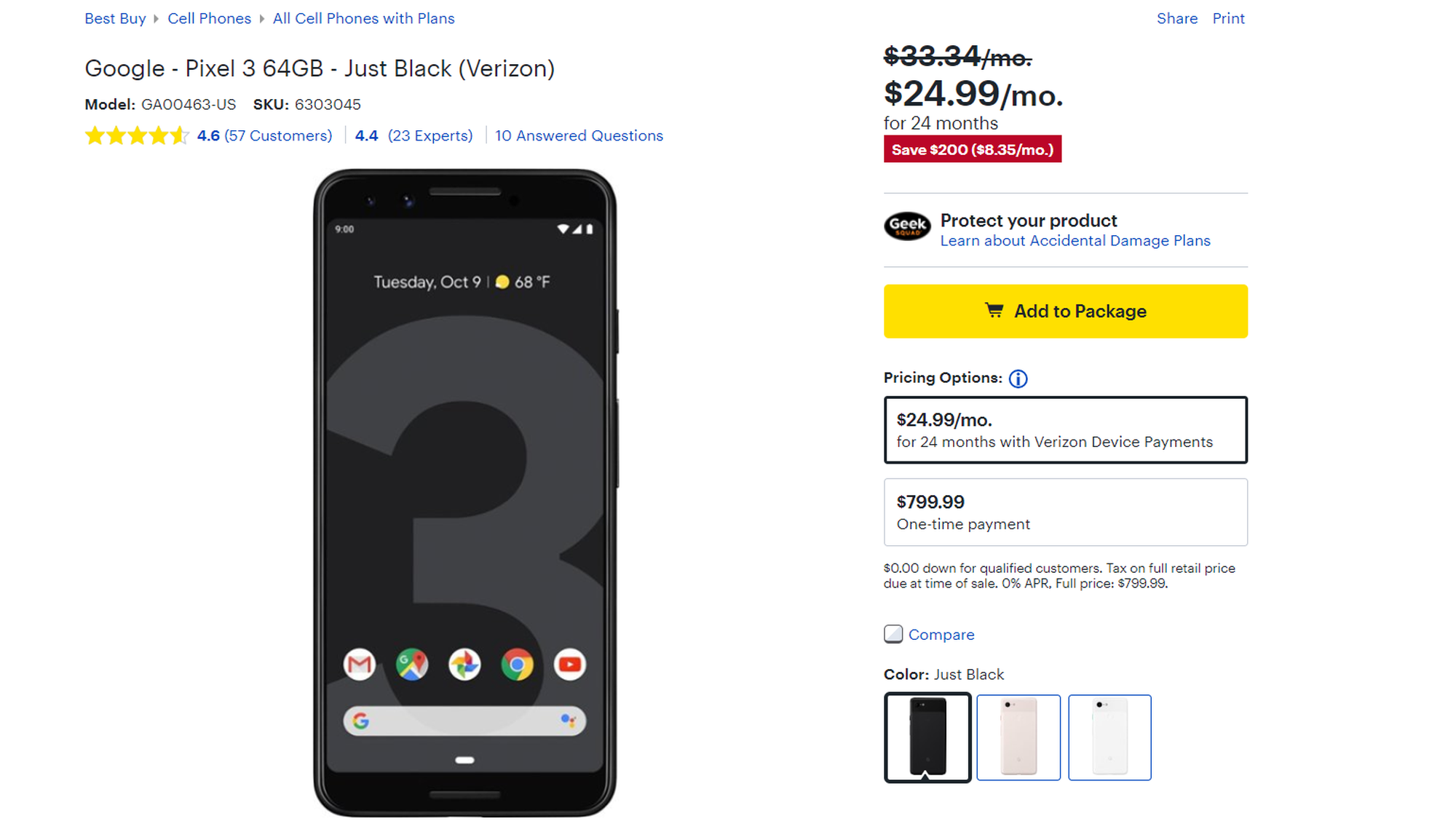 Best buy offering $200 discount on Pixel 3, Pixel 3 XL and $400 discount on Pixel 2 XL