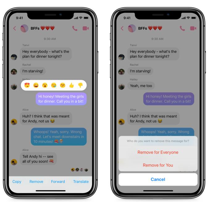 Como obter o recurso não enviado no Facebook Messenger