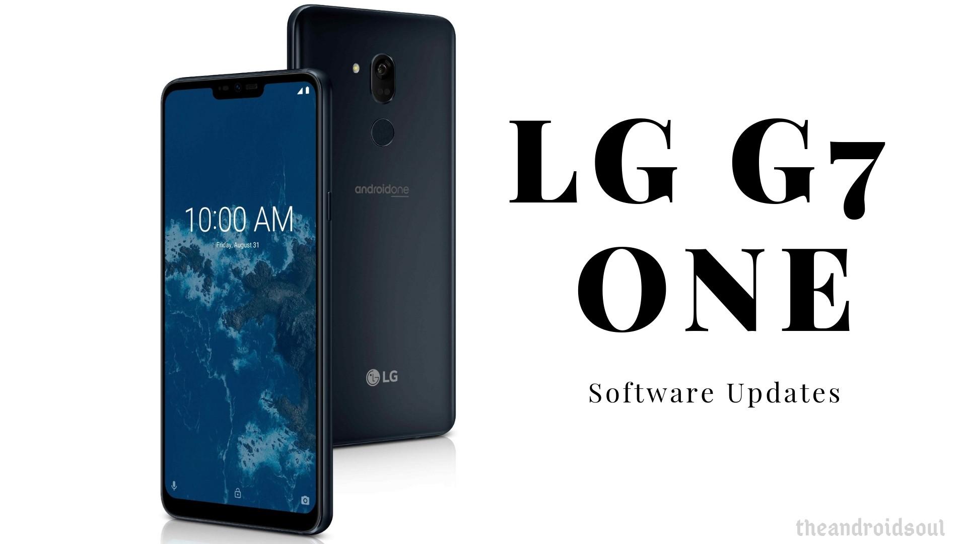LG G7 One software updates