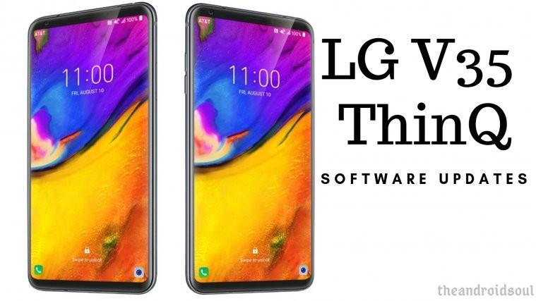 LG V35 ThinQ software update