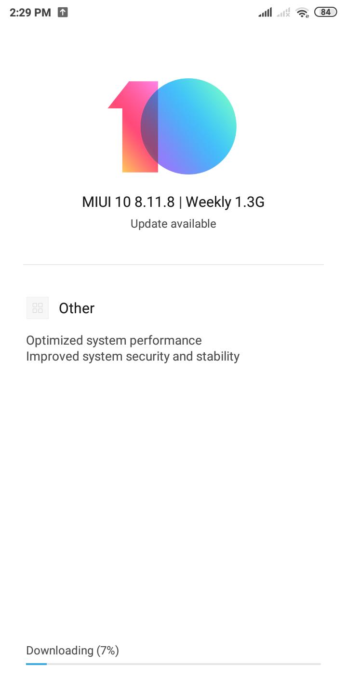MIUI 10 beta 8.11.8