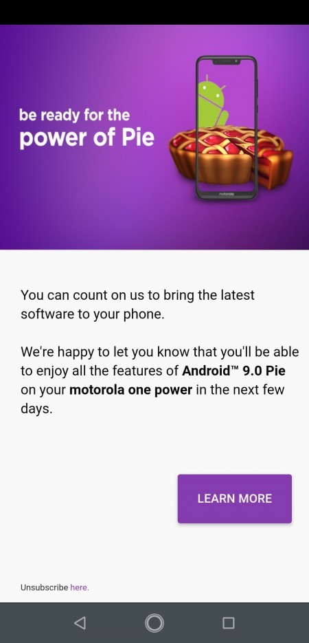 Moto One Power Android 9 Pie update
