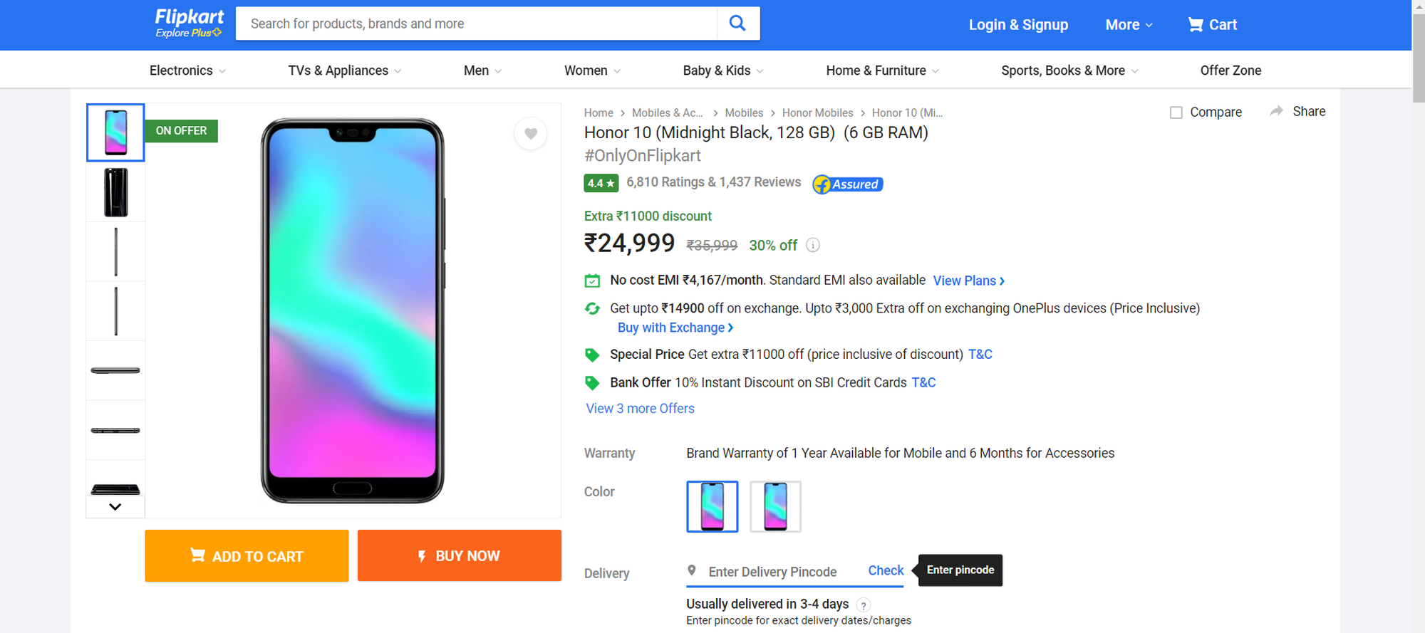 should you buy Honor 10 over OnePlus 6T price