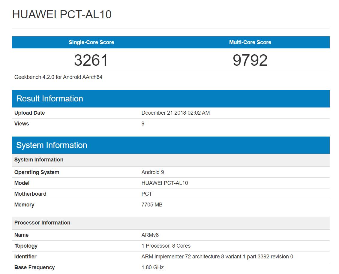Huawei PCT-AL10