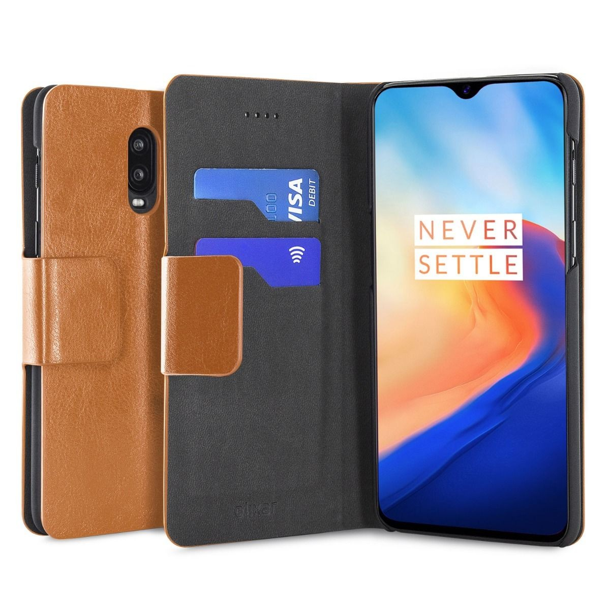 OnePlus 6T Olixar Leather-style wallet stand case