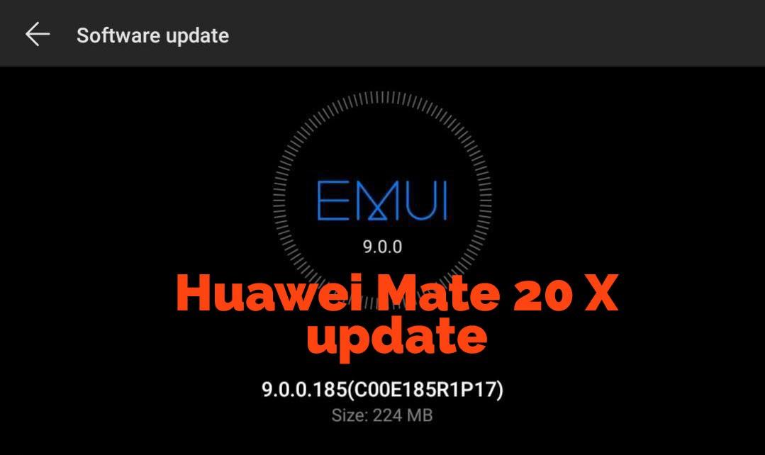 Mate 20 X update