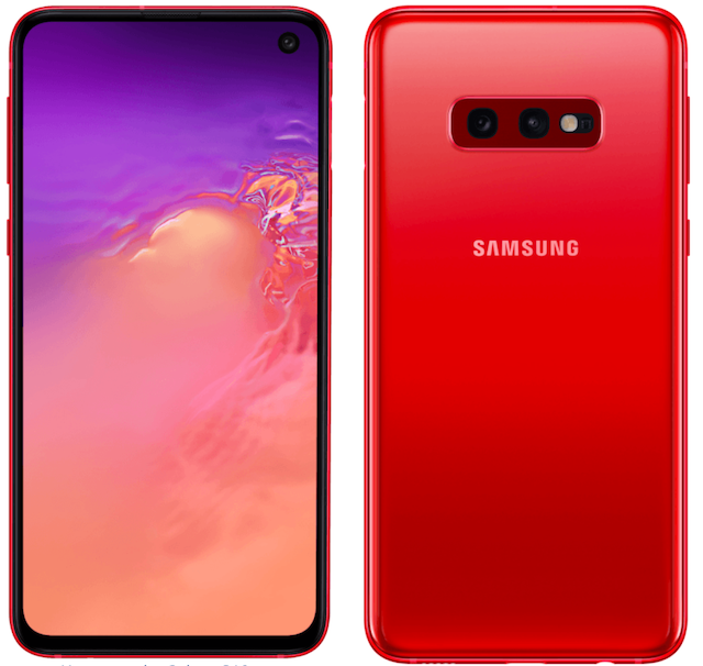 Samsung Galaxy S10 cardinal red