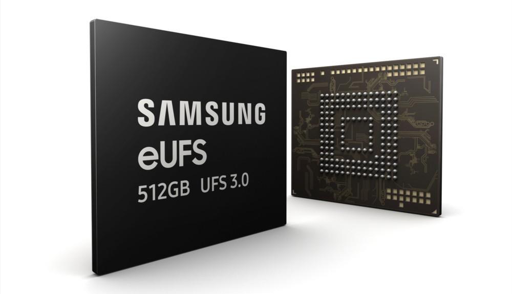 Samsung eUFS 512GB flash chip
