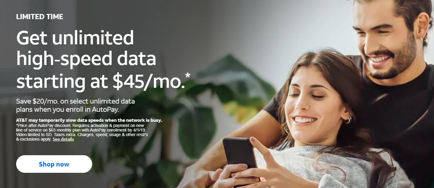 AT&T prepaid unlimited plan