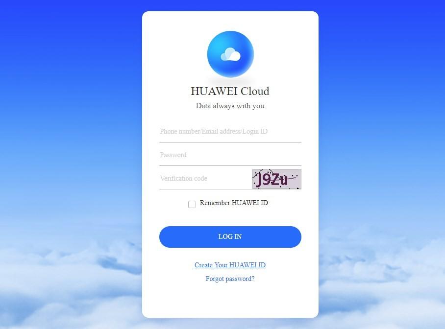 Huawei ID register